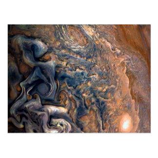 Carte Postale Nuages de tourbillonnement de fin de Jupiter de