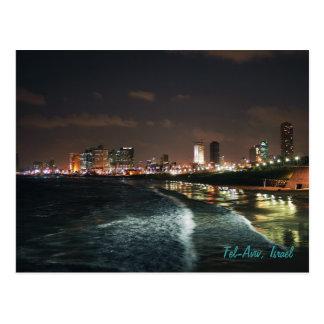 Carte Postale Nuit à Tel Aviv, Israël