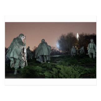 Carte Postale Nuit de monument de Washington de mémorial de