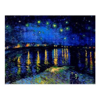 Carte Postale Nuit étoilée de Van Gogh au-dessus des beaux-arts
