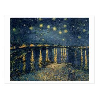 Carte Postale Nuit étoilée de Vincent van Gogh | au-dessus du