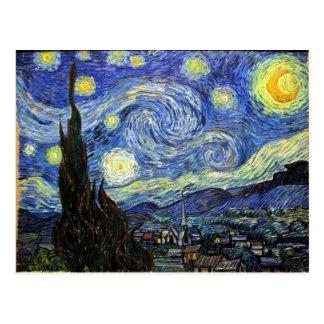 Carte Postale Nuit étoilée par Vincent van Gogh 1889