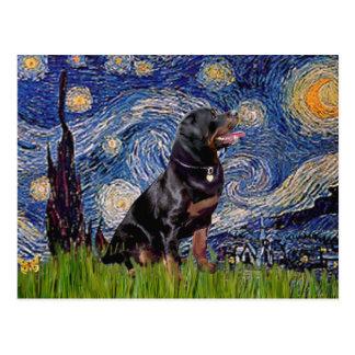 Carte Postale Nuit étoilée - rottweiler (#6)