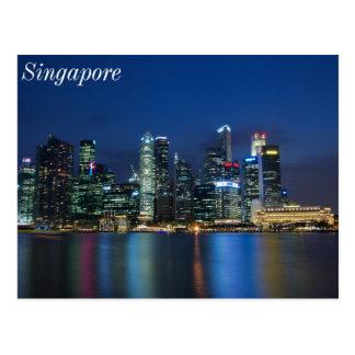 Carte Postale Nuits de bleu d'horizon de Singapour