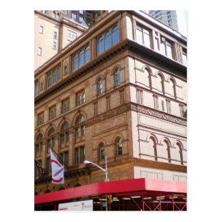 Carte Postale NYC Carnegie Hall