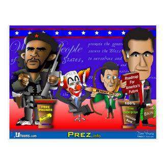Carte Postale Obama Biden Romney Ryan