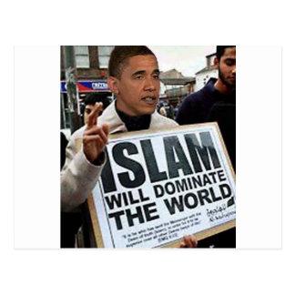 Carte Postale Obama est un musulman
