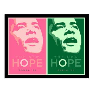 Carte Postale Obama 'le nouveau Hope