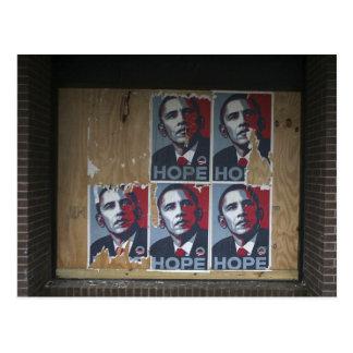 Carte Postale Obama signe dedans une fenêtre embarquée d'un