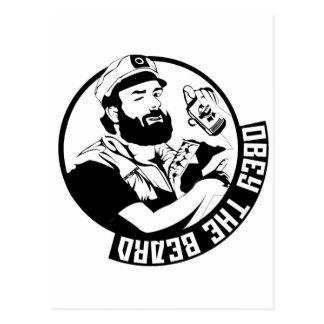 Carte Postale Obéissez la barbe