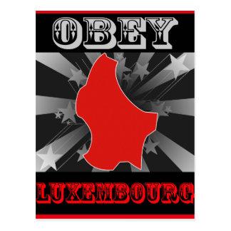 Carte Postale Obéissez le Luxembourg