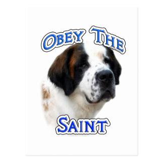 Carte Postale Obéissez le saint