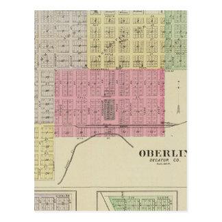 Carte Postale Oberlin, Norcatur, Kanona, Allison, le Kansas