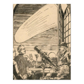 Carte Postale Observation de la comète