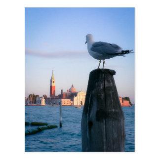 Carte Postale Observation pour des gondalas à Venise