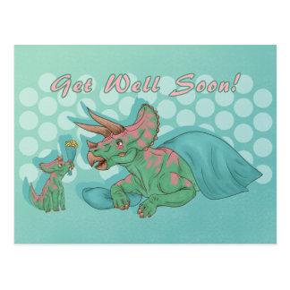 Carte Postale Obtenez bientôt le Triceratops bon