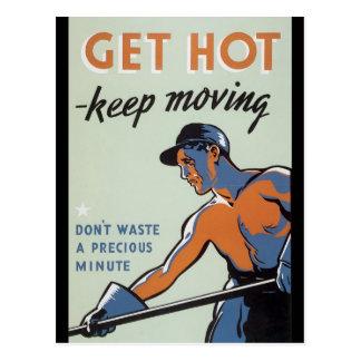 Carte Postale Obtenez la guerre mondiale chaude 2