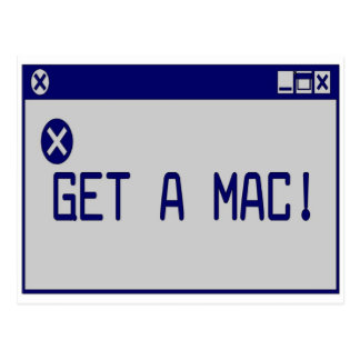 Carte Postale Obtenez un Mac !