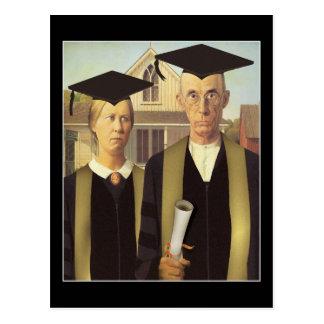 Carte Postale Obtention du diplôme gothique américaine