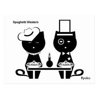 Carte postale occidentale de spaghetti