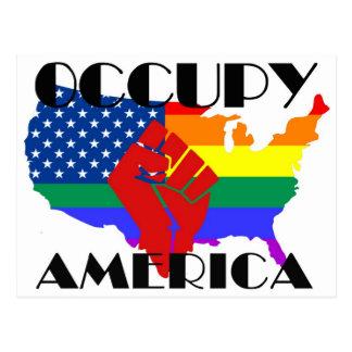 Carte Postale Occupez l'Amérique - LGBTQ