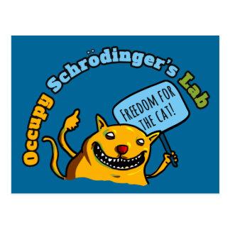 Carte Postale Occupez le laboratoire de Schrodinger