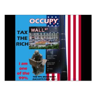 Carte Postale Occupez Wall Street - le parc 2011 de Zuccotti