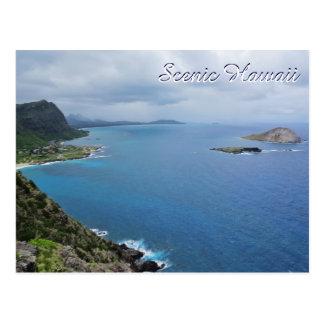 Carte Postale Océan pittoresque de montagnes d'île d'Hawaï