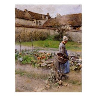 Carte Postale Octobre les citrouilles Carl Larsson