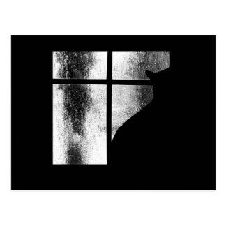 Carte Postale Octobre verse la silhouette de chat noir à la