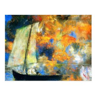Carte Postale Odilon Redon - nuages de fleur