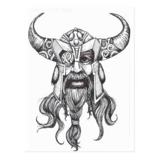 Carte Postale Odin grand Dieu des norses