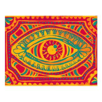 Carte Postale Oeil de gitans d'entrain orange