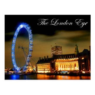 Carte Postale Oeil de Londres la nuit
