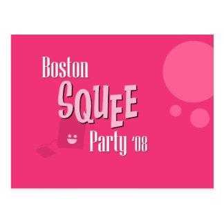 Carte postale officielle de partie de Boston Squee