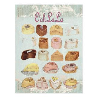 Carte Postale oh ! café de Français de chocolat de pâtisserie de
