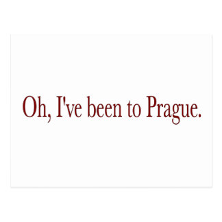 Carte Postale Oh j'ai été à Prague