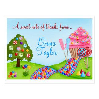 Carte Postale Oh petits gâteaux et lucettes doux de terre de