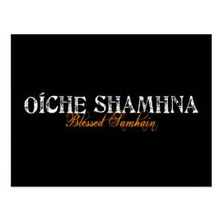 Carte Postale Oíche Shamhna : Samhain béni