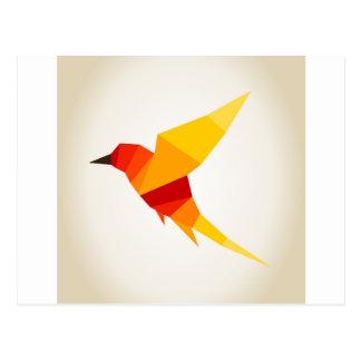 Carte Postale Oiseau abstraction4