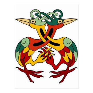 Carte Postale Oiseau celtique