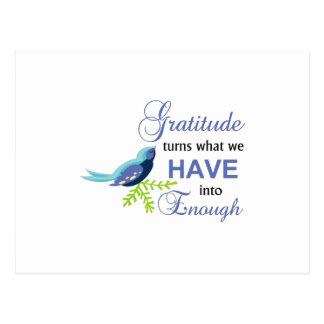 Carte Postale Oiseau de bleu de gratitude