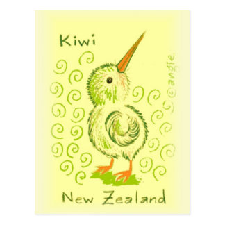 Carte Postale Oiseau de kiwi de la Nouvelle Zélande