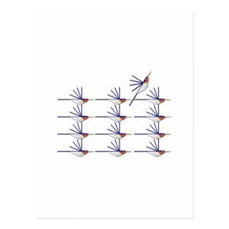 Carte Postale Oiseau de ronflement