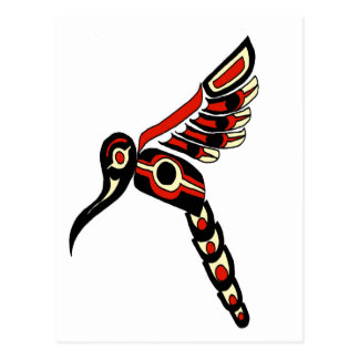 Carte Postale Oiseau de ronflement de Haida
