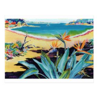 Carte Postale Oiseau de scène tropicale de plage de paradis