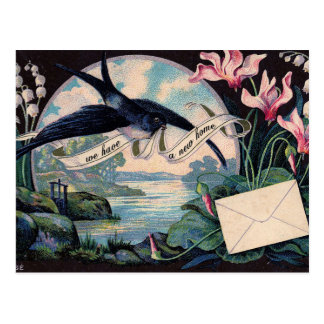 Carte Postale Oiseau mobile personnalisable de cru de //de