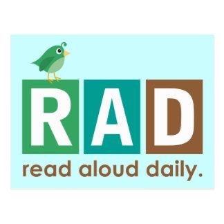 Carte Postale Oiseau rad - À haute voix lu cadeau quotidien de