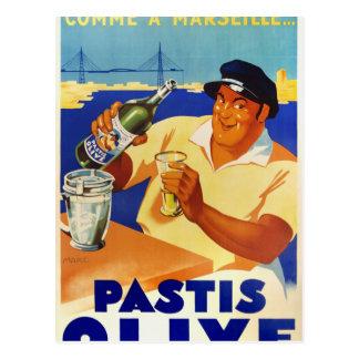 Carte Postale Olive de Pastis - Comme Marseille