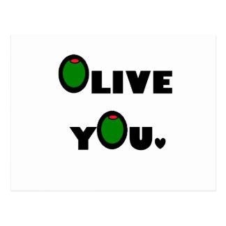 Carte Postale Olive vous